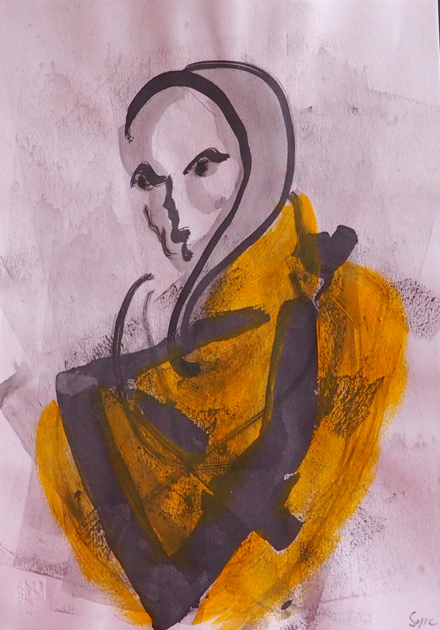 Identity, 33 x 48 cm; Gouache on Paper; Sojic, 2018