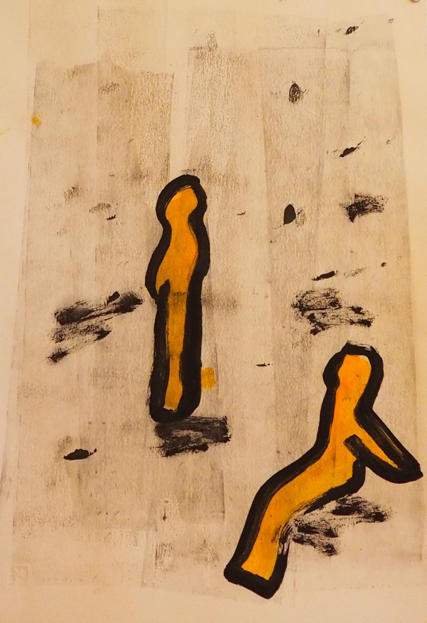 Memes 3, 33 x 48 cm; Gouache on Paper; Sojic, 2018
