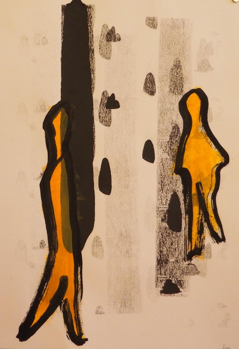Memes 7, 33 x 48 cm; Gouache on Paper; Sojic, 2018