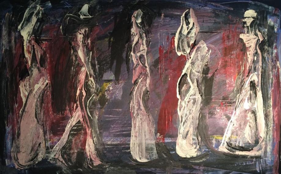 Parade, 50 x 80 cm; Acrylic/Silica on Canvas, Sojic, 2016