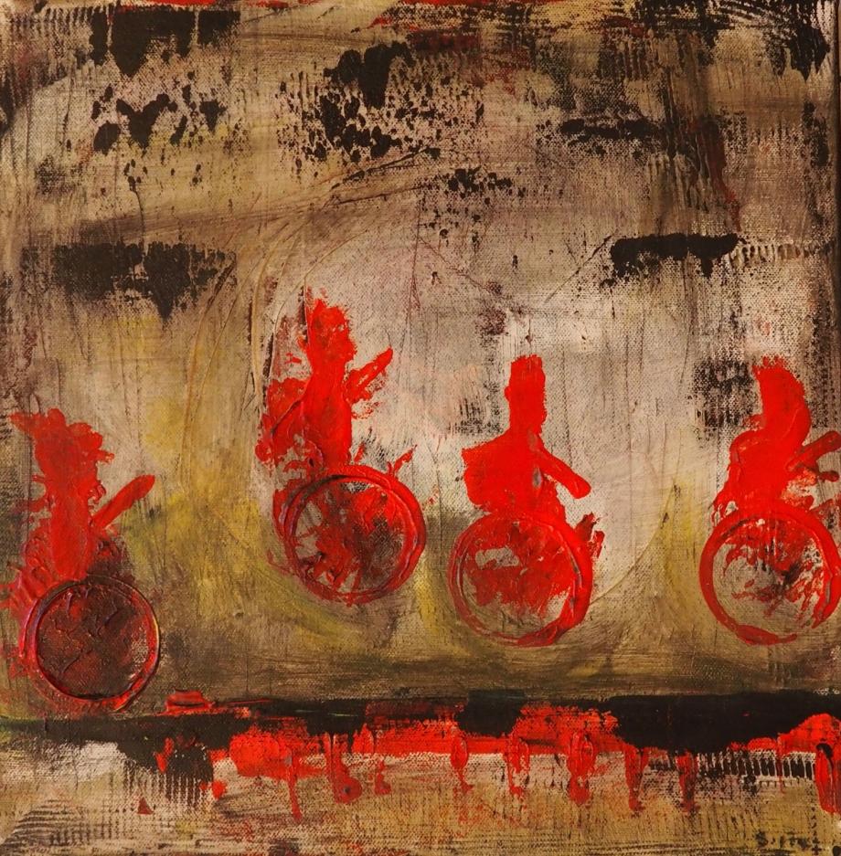 They, 40x40 cm; Acrylic on Canvas; Sojic, 2017