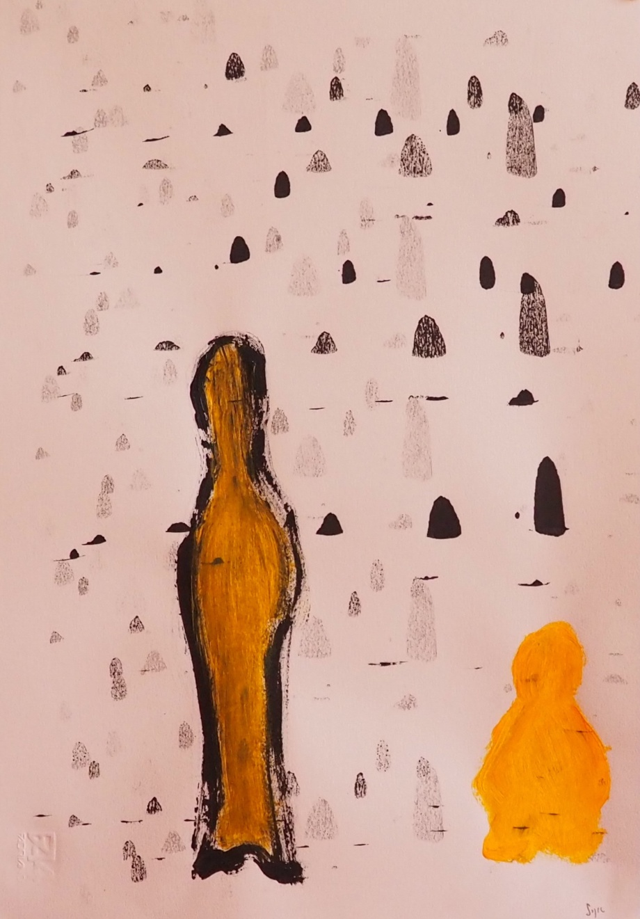 Memes 8, 33 x 48 cm; Gouache on Paper; Sojic, 2018