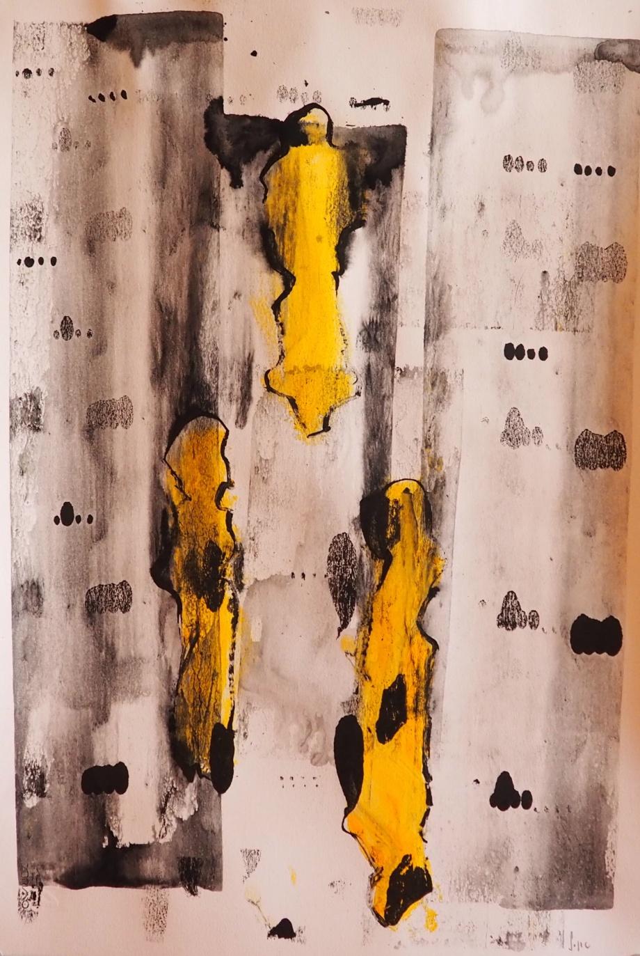Memes 9, 33 x 48 cm; Gouache on Paper; Sojic, 2018